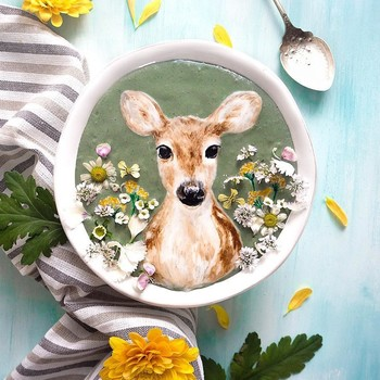 smoothie-bowl-art-deer