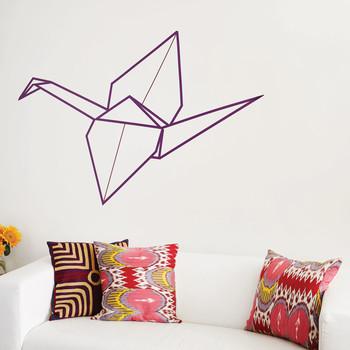 Washi Tape Origami Crane Wall Art
