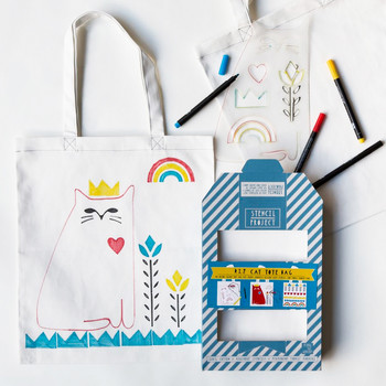Made for Mom: Tea Towels and Totes Kids Can Color