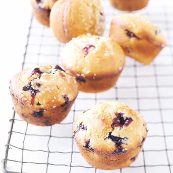 Blueberry-Cornmeal Muffins