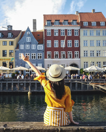 Young Woman Traveling in Copenhagen