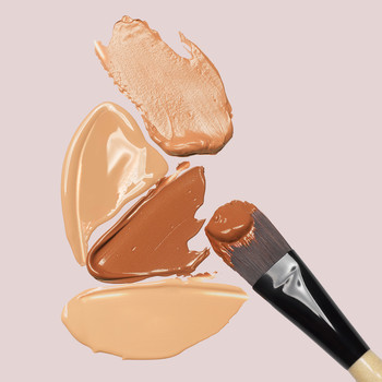 foundation splotches and brush