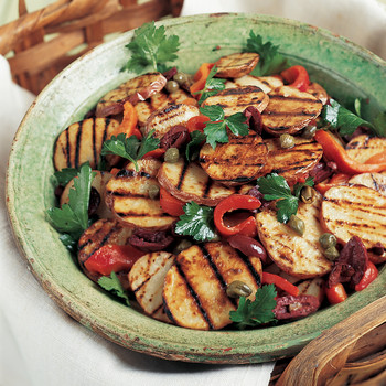 Grilled Mediterranean Potato Salad