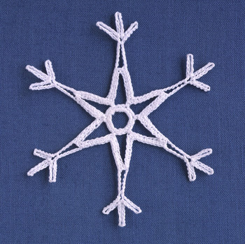 basic crocheted snowflake