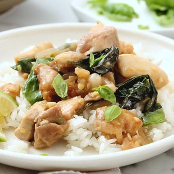 Watch: Spicy Chicken and Basil Stir Fry