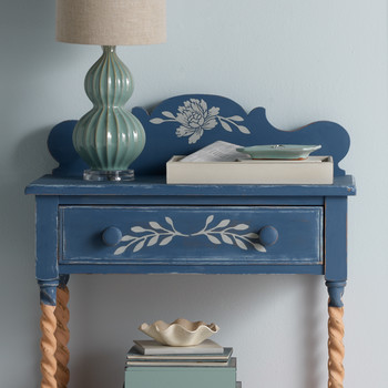 Vintage Decor Stenciled Nightstand