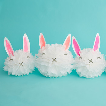 How to Make Easter Bunny Pom-Pom Decorations