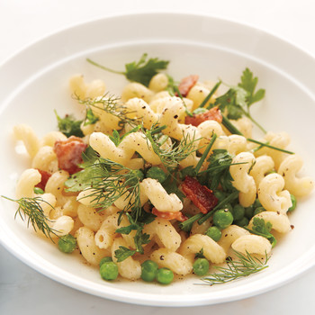 Bacon, Pea, and Fresh Herb Pasta