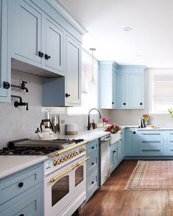 Powder Blue Kitchen