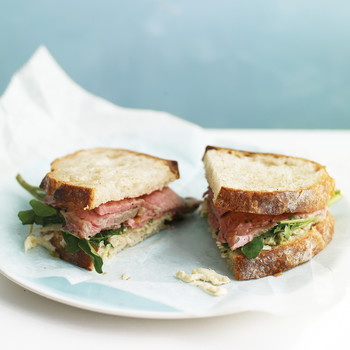 Roast Beef Sandwiches with Celery-Root Remoulade