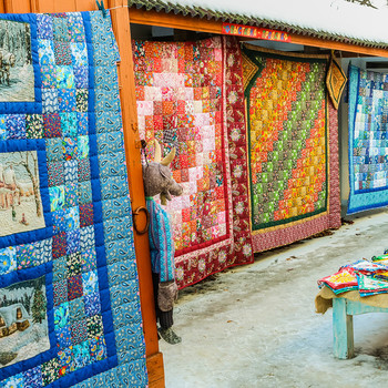 traditional quilts display