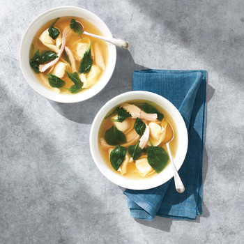 Turkey Tortellini Soup