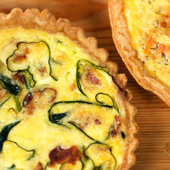Bacon and Zucchini Quiche