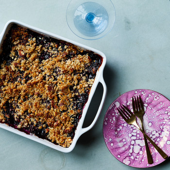 vegan blueberry crisp