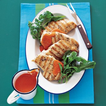 Chicken with Roasted-Pepper Sauce