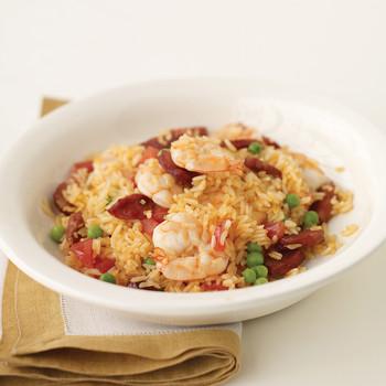 Chorizo and Shrimp Pilaf