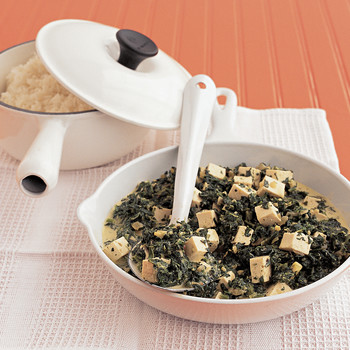 Curried Spinach and Tofu