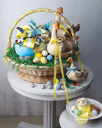10 adorable easter basket ideas for toddlers martha stewart easter baskets negle Images