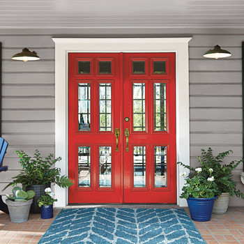 bright red front door paint color