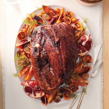 Spice-Rubbed Fresh Ham with Citrus Glaze
