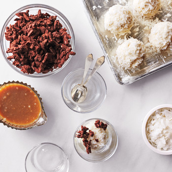 Chocolate, Almond, and Coconut Clusters