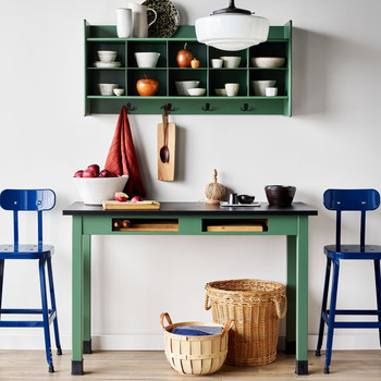 kitchen table shelves
