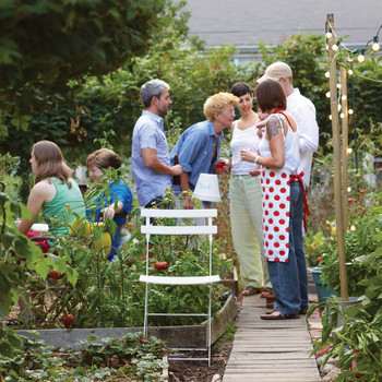 Community Garden Potluck Party