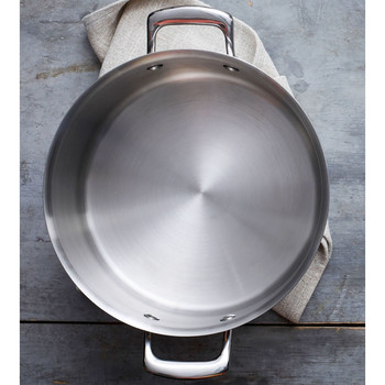 pressure cooker on a gray countertop