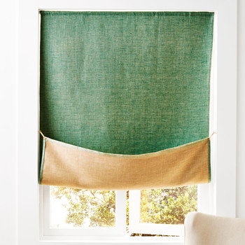 reversible linen curtain