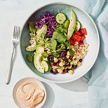 rice and bean salad bowl