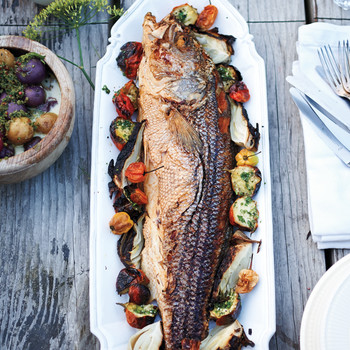 Herb-Rubbed Grilled Fish