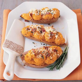 Savory Twice-Baked Sweet Potatoes