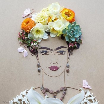 flower-art-frida-portrait