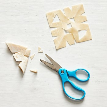 snow angle cookie cutting
