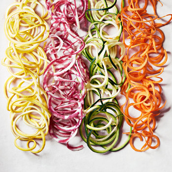 spiralized veggie noodles