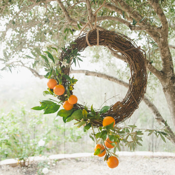 sweet laurel retreat hanging orange wreath