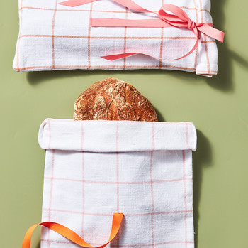 tea towel bread pouch