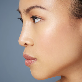 woman with glowing hydrated skin