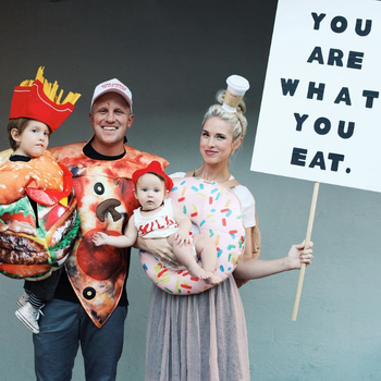 Lex Brinton and her family dressed as food for Halloween