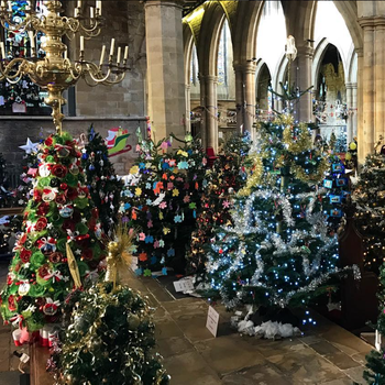 This is What a Record-Setting 1,378 Christmas Tree Display Looks Like