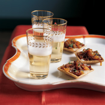 Caramelized Apricot-Onion Tartlets
