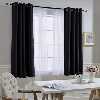 blackout curtains on window
