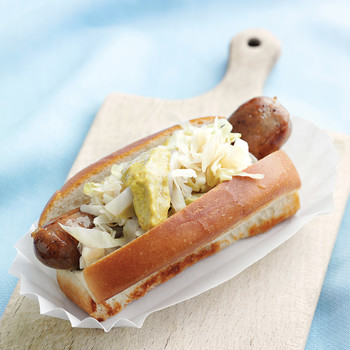 Bratwursts with Sauerkraut