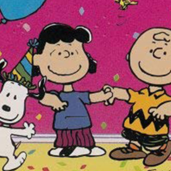 Charlie Brown, Lucy, and Snoopy