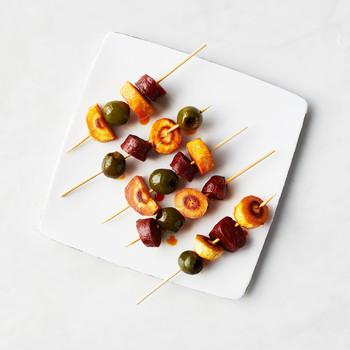 Chorizo, Parsnip, and Olive Bites
