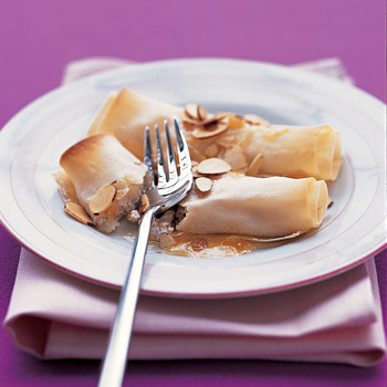 Cottage Cheese Crepes with Almonds