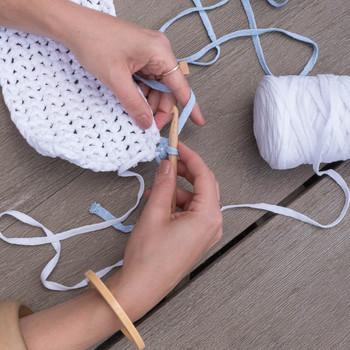 crocheted clutch tassel step 3B