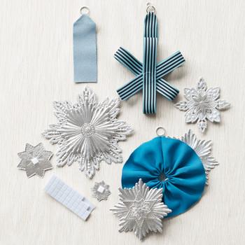 Dresden Rosette Christmas Ornament