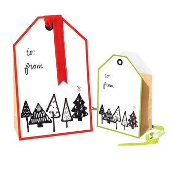 All-in-One Christmas Gift Tag Bag