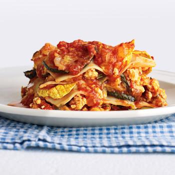 Light Chicken and Squash Lasagna